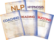 NLP, Coaching, Hypnosis, Reading and Quotes Set